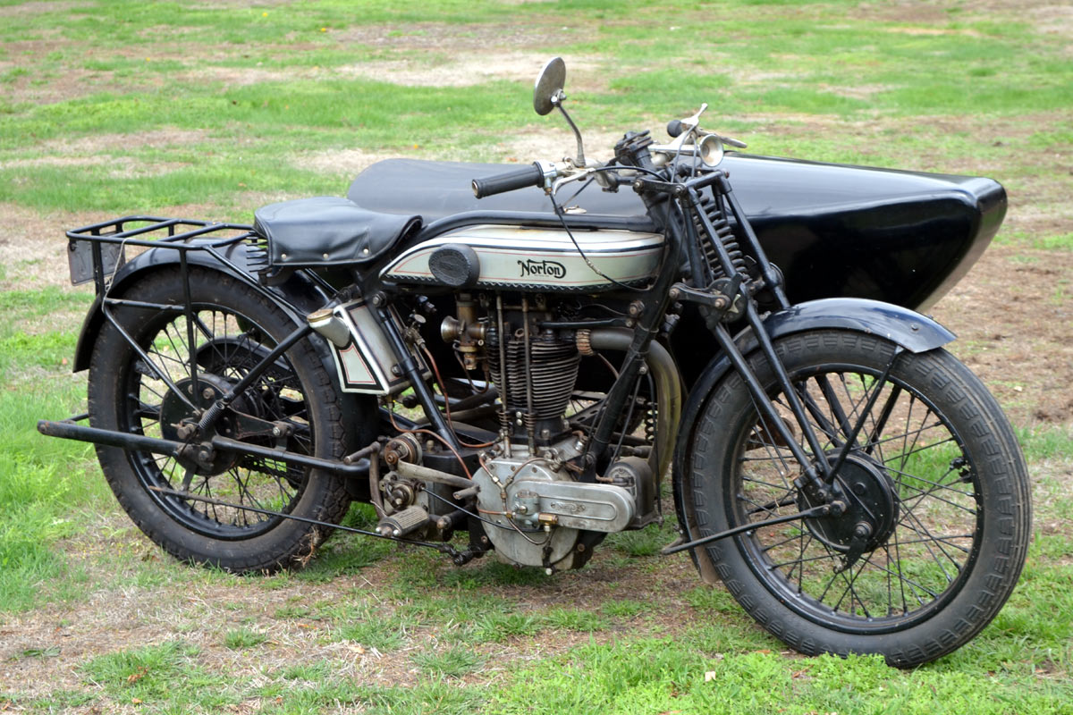1928 norton model 19 and goulding sidecar for The norton