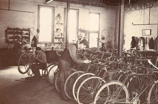 Lewis bicycle repair shop gawler place c1904 for Motorized bicycle repair shop